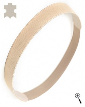 Magnetic band for head from beige real leather (more details)