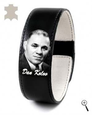 Magnetic bracelet with a picture of Dan Kolov (details)