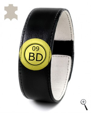 Magnetic bracelet for the away kit of BORUSSIA DORTMUND (details)