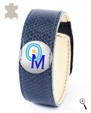 Magnetic bracelet for the away kit of OLYMPIQUE MARSEILLE