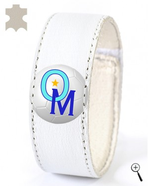 Magnetic bracelet for the home kit of OLYMPIQUE MARSEILLE