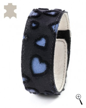 Magnetic bracelets from laser treated velvet - size S (more details)