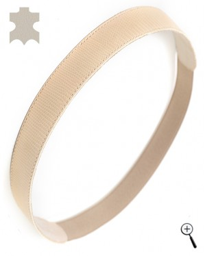 Magnetic leather bands for head from ivory real leather (details)