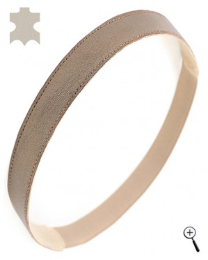 Magnetic leather bands for head from bronze real leather (details)