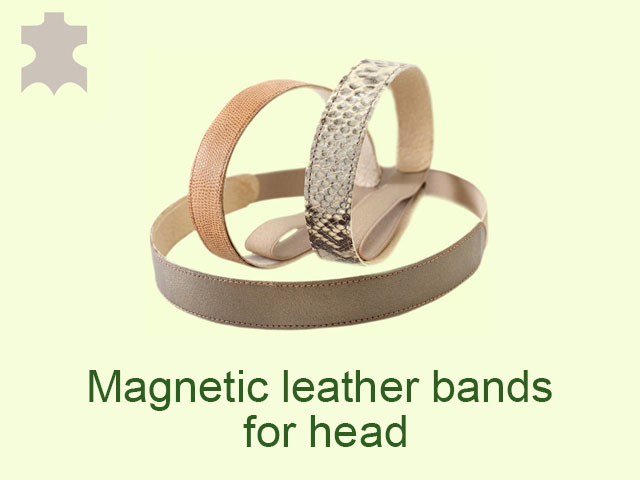 The magnetic leather bands for head reduce the risk from stroke.