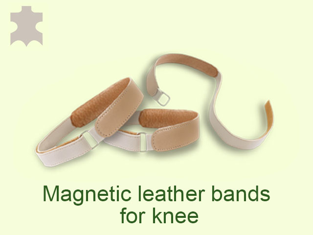 The leather magnetic bands for knee is used for relief the pain in knee.
